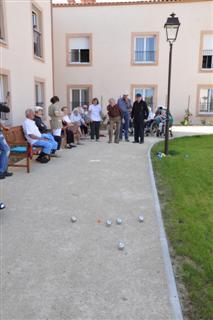 Activité pétanque résidence médicalisée Fabrègues